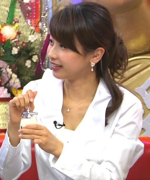 加藤綾子 胸の谷間キャプ・エロ画像3