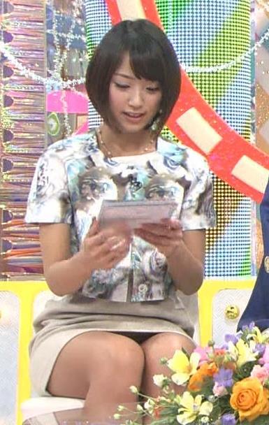 竹内由恵 久しぶりのミニスカのデルタゾーンキャプ画像(エロ・アイコラ画像)
