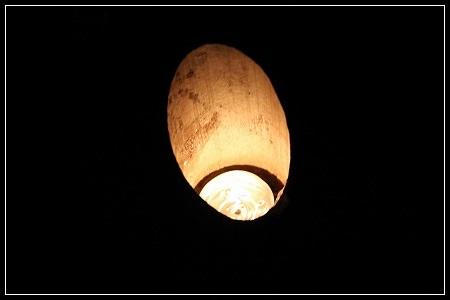 竹の灯明だよ~!