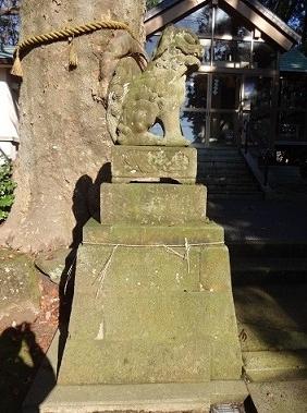 大正8年に製造されました神明社の狛犬