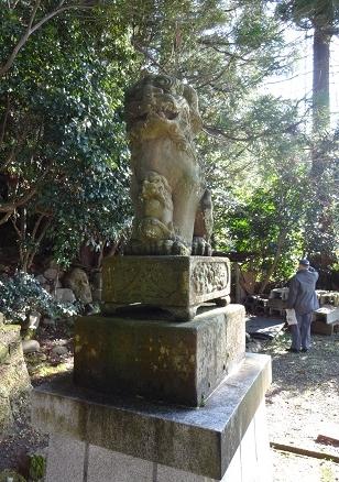 「少名彦神社」の狛犬