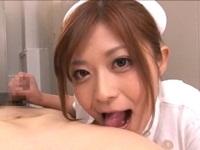 美巨乳ナースの手コキ・フェラ・パイズリ さとう遥希